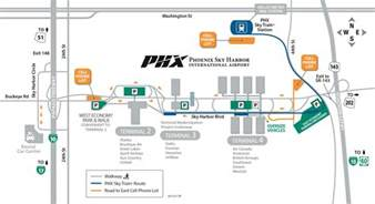 Phoenix Terminal Map by Gallery For Gt Phoenix Sky Harbor Terminal 4