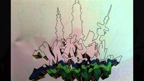 graffiti  paper  wildstyle  hamburg skyline