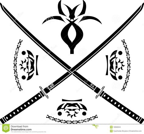 japanese swords stock images image 19060844