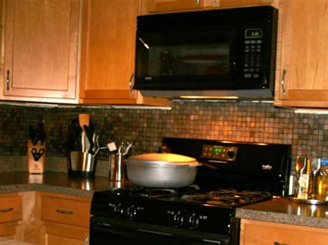 how to install mosaic tile backsplash in kitchen installing kitchen tile backsplash hgtv