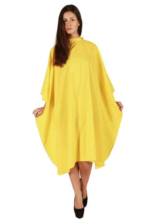 hair fashion smocks yellow large shoo and cutting cape size 50 quot x57 quot salon