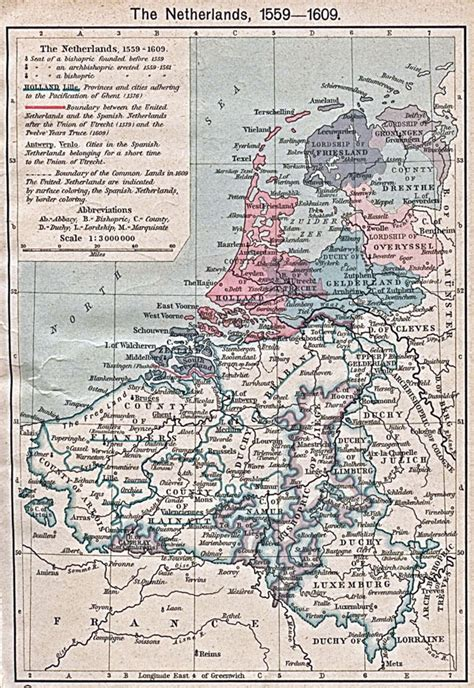 map netherlands and belgium large map of netherlands and belgium 1559 1609