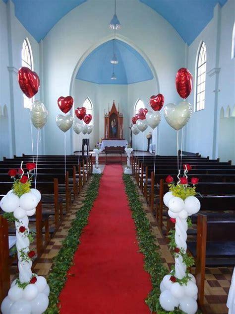 Lovely wedding church balloon decoration.   Wedding