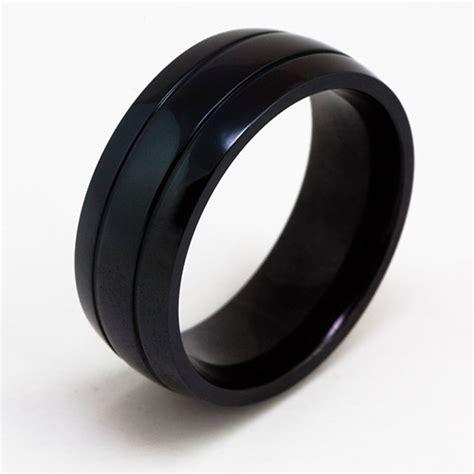 Titan Ring by Titan Ring Schwarz Black Titanring Titanium