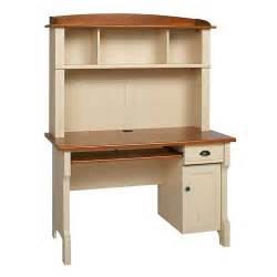 Small Computer Desk With Hutch Realspace Shore Mini Solutions Computer Desk With Hutch Antique White 891368 Desks Home