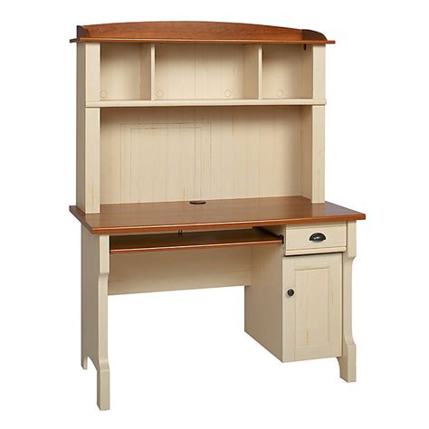 shore office furniture realspace shore mini solutions computer desk with hutch antique white 891368 desks home