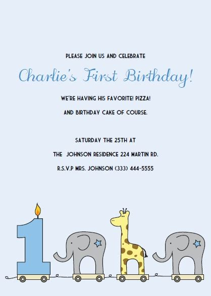 free printable 1st birthday invites birthday invitations template best template