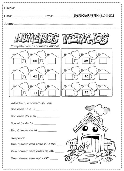 Atividades matemática 1° série para imprimir - Atividades