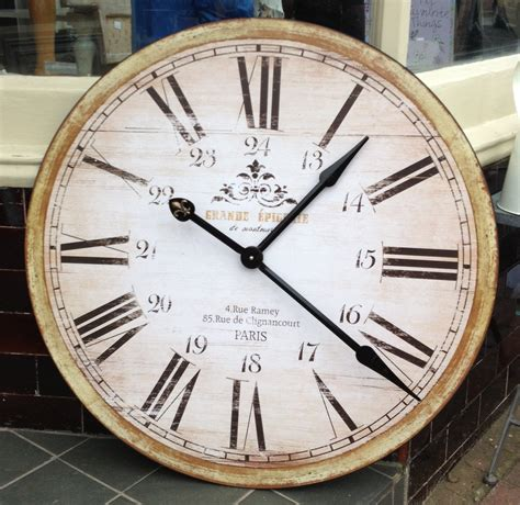 giant clocks grand epecerie de montmatre wall clock very large