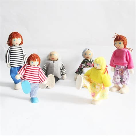 one gift for entire family baby wooden dolls whole family 6 patterns family members parents puppet toys set for