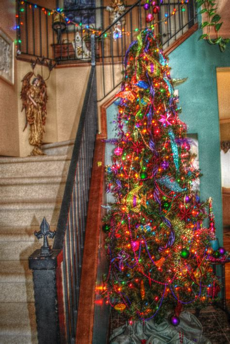 Foyer Multi Color Christmas Tree Christmas New Years Multi Color Tree
