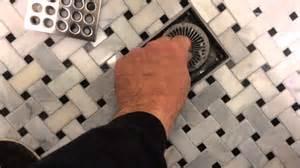 hair trap drain in tile shower