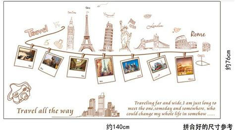Wall Stiker 3d 5d Uk 60x90 Gambar Timbul 5 jual mix motif travelling wall sticker uk 2 x 60 x 90 hiasan dinding tisya shopz