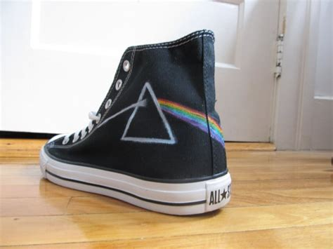 pink floyd side of the moon high top converse by