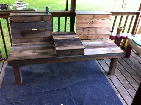 bench with table in middle bench with middle table made primarily from