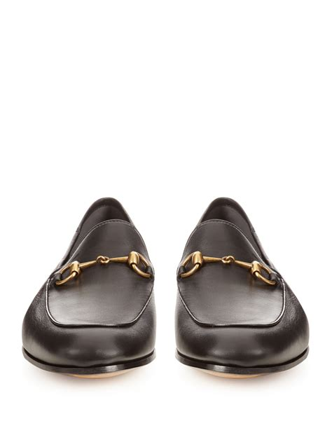 black gucci loafers gucci brixton leather loafers in black for lyst