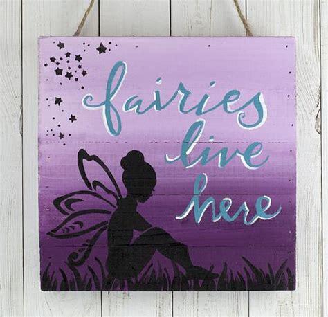 fairies   garden sign project  decoart