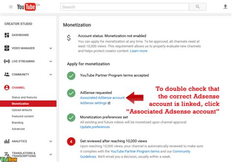 adsense link youtube link adsense to your youtube account visihow