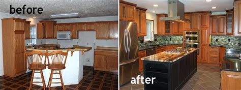 kitchen remodels before and after model home kitchen1