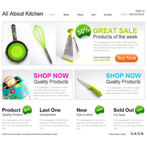 free website templates for kitchen create free kitchen store website templates perfect
