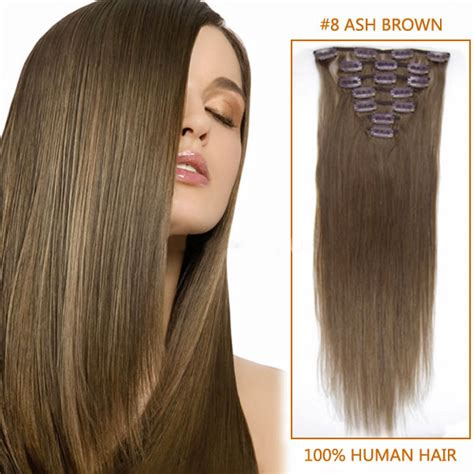 light cylinder hair extensions 22 inch straight clip in remy hair extensions 8 light