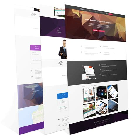 one page joomla templates creative one page joomla template wt fiber