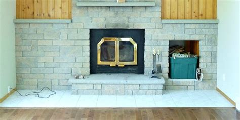 inexpensive fireplace makeover painted fireplace