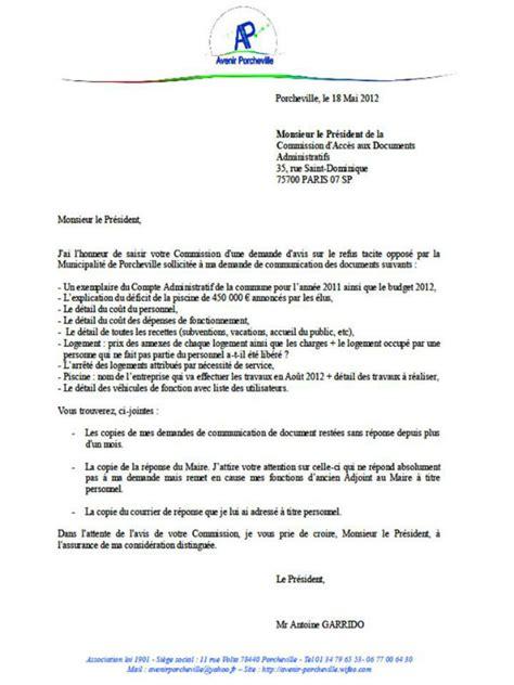 Exemple De Lettre Pour Courrier Administratif Visuel Modele Lettre Obtention D Un Document Administratif