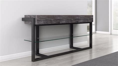 grey sofa black table console table in graphite finish furnitech