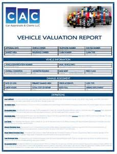 Used Car Valuation Report Car Appraisals Claims Llc The Southeast S Premier Car