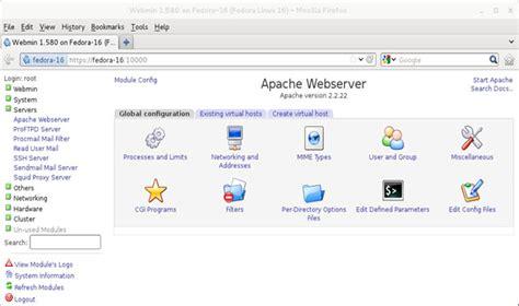 tutorial webmin linux installing configuring linux webmin linux web based