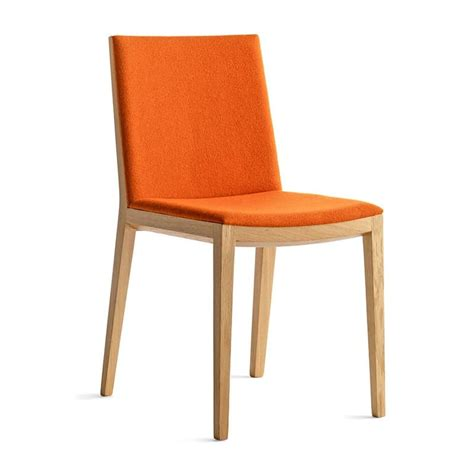 design lunchroom chair in wood upholstered seat and back
