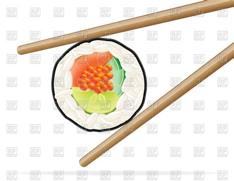 eps clipart sushi and chopsticks royalty free vector clip image