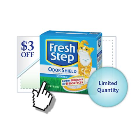 Fresh Step Sweepstakes - 3 off any scoopable fresh step 174 product