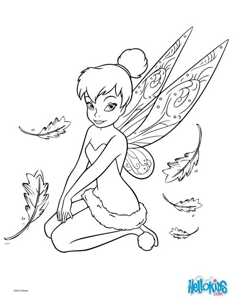 DISNEY Coloring Pages  Tinker Bell sketch template
