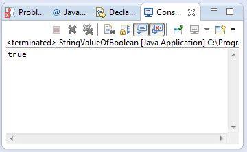 java pattern boolean java string valueof boolean b method exle