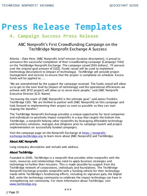 digital press release template start guide for your nonprofit technology