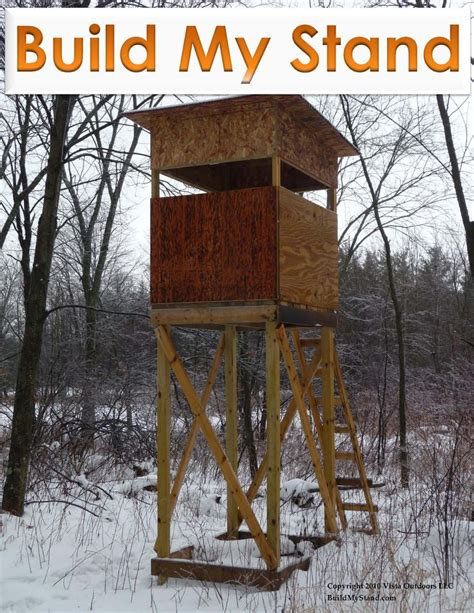 how to build a standing deer stands deer and treehouse on