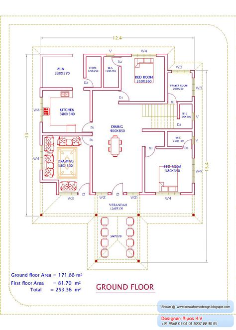 kerala home design ground floor plan kerala home plan and elevation 2726 sq ft kerala home
