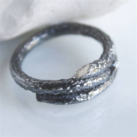 Handmade Sterling Silver Ring - handmade sterling silver mens woodland branch ring