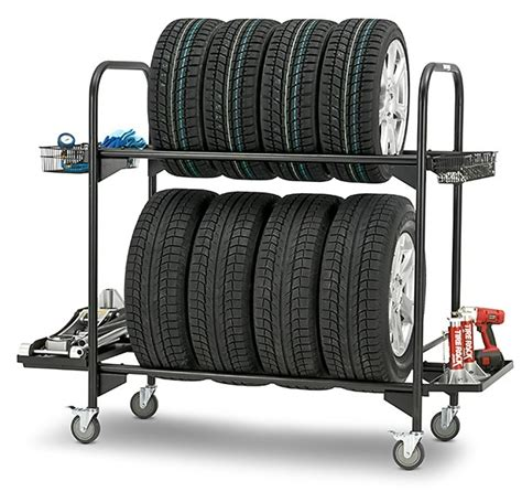Tyres Rack by Kinlife Rolling Commercial Tire Storage Rack Buy Tire