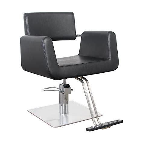 modern salon chairs modern hair chair with chrome brackets capelli