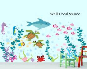 ocean wall stickers aquarium wall decal under the sea oceanic wall decal
