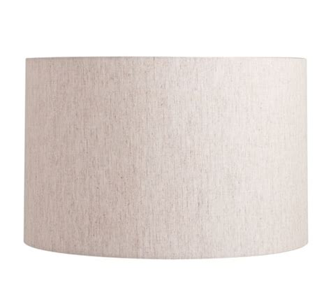 straight sided drum l shade straight sided linen drum l shade pottery barn