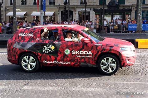 le nouveau skoda kodiaq 224 lors du tour de