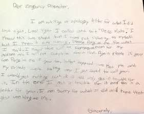 Break Apology Letter grader s deez nuts prank 911 call leads to best apology ever
