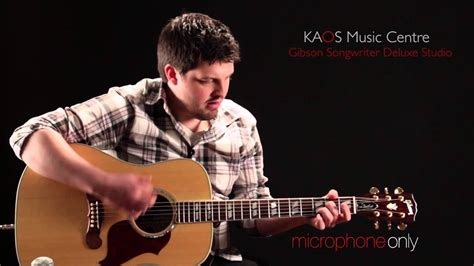 Kaos Gibson Guitars kaos gear demo gibson songwriter deluxe studio