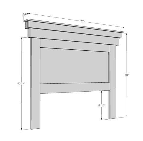 queen headboard plans ana white mantel moulding headboard diy projects