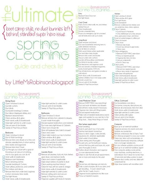 deep cleaning house checklist 11 free printable checklists to help you conquer spring