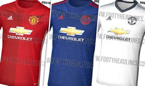 Official Manchester United 3rd 1617 revealed manchester united s leaked home away and third kits for next season football